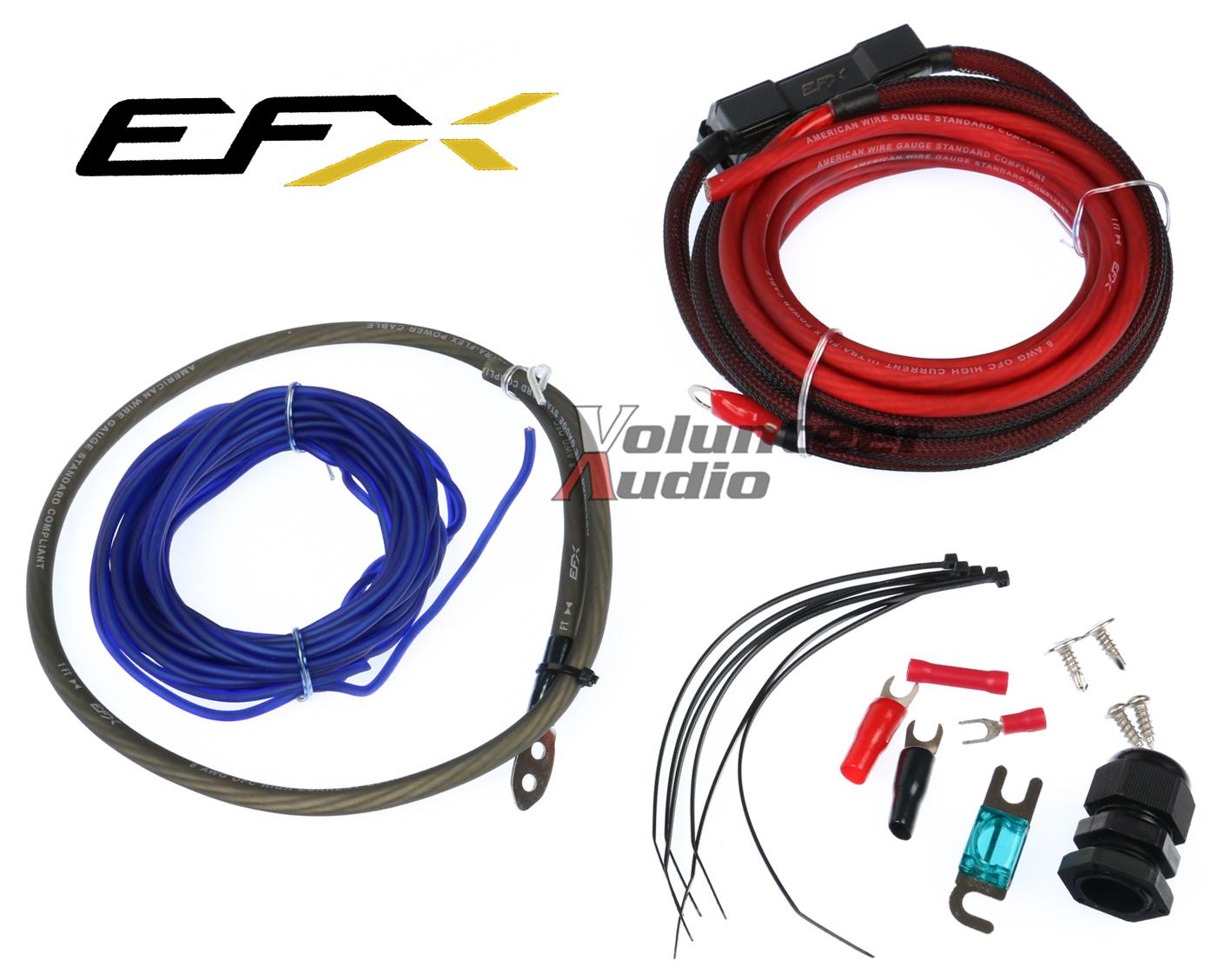 details about efx 8ga ofc amp kit efxakc8b 60amp remote wire spade  terminals bulkhead