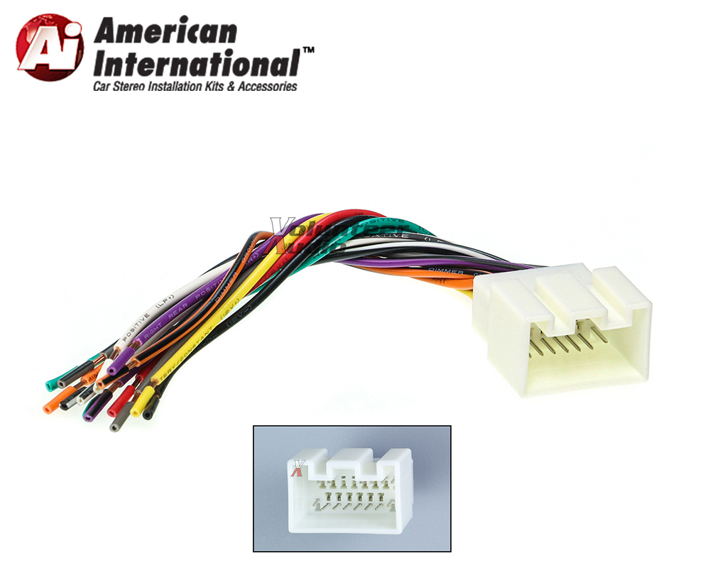fwh598 marked1 ford lincoln car stereo cd player wiring harness wire aftermarket  at edmiracle.co
