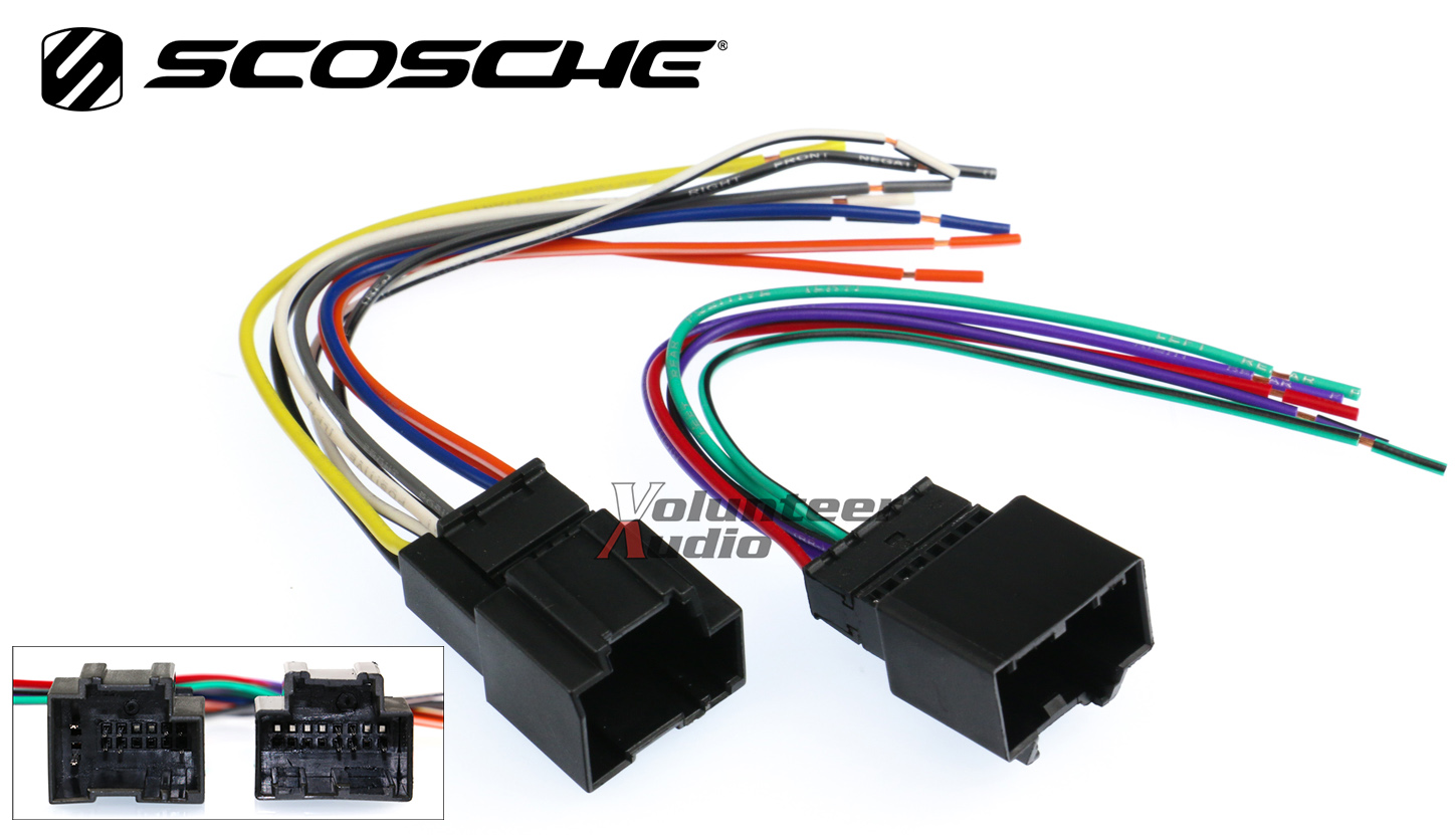 gm18b marked1 chevy aveo car stereo cd player wiring harness wire aftermarket 2008 chevy impala smp wire harness connector at edmiracle.co