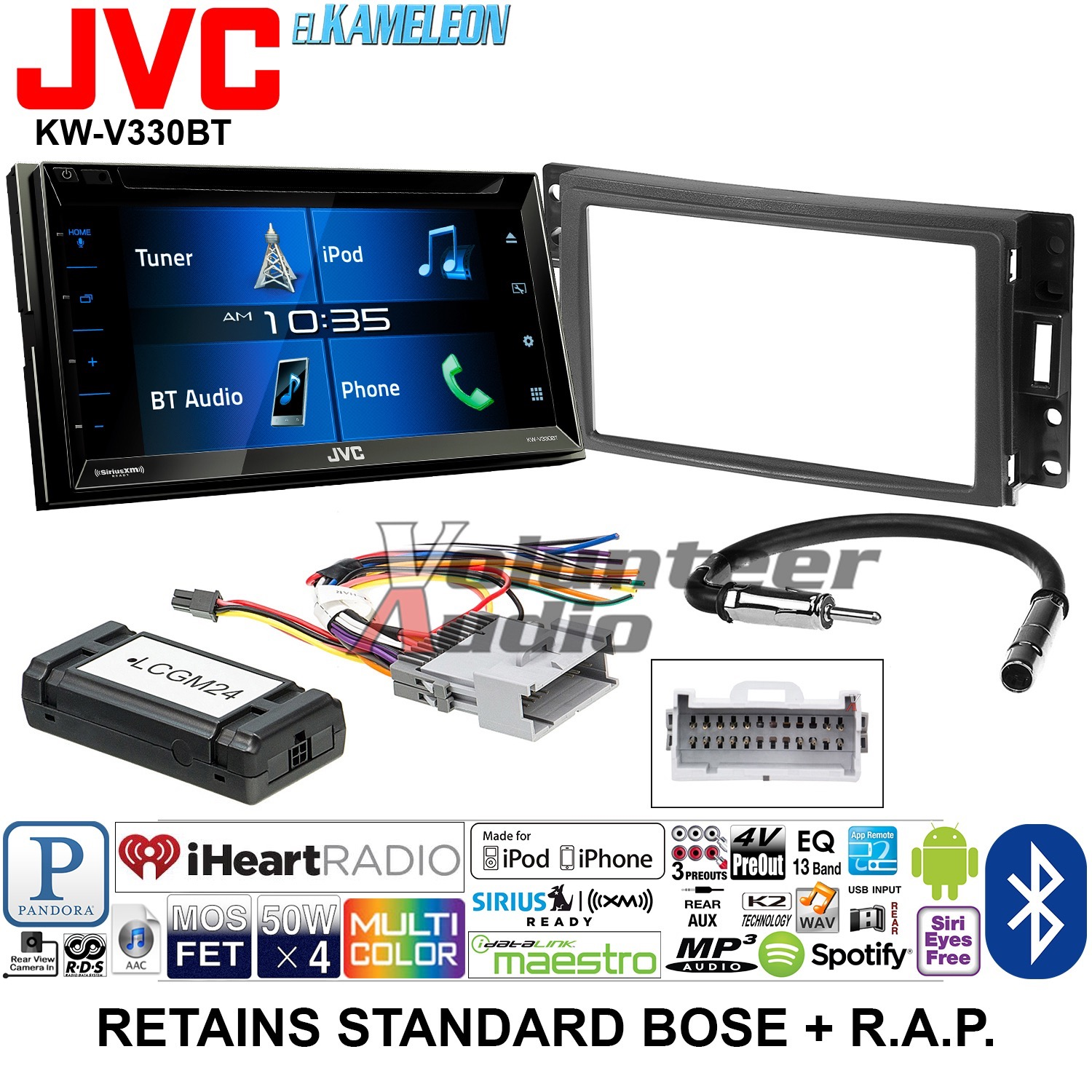 JVC Double Din DVD CD Player Car Radio Install Mount Kit