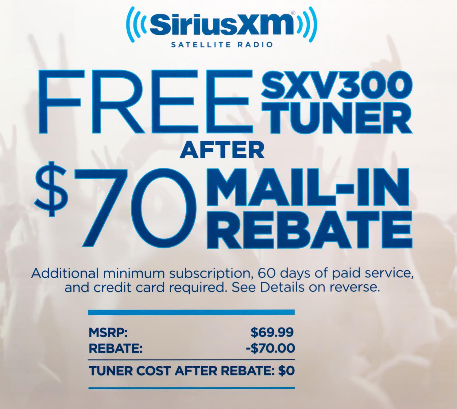 sirius radio coupons discounts