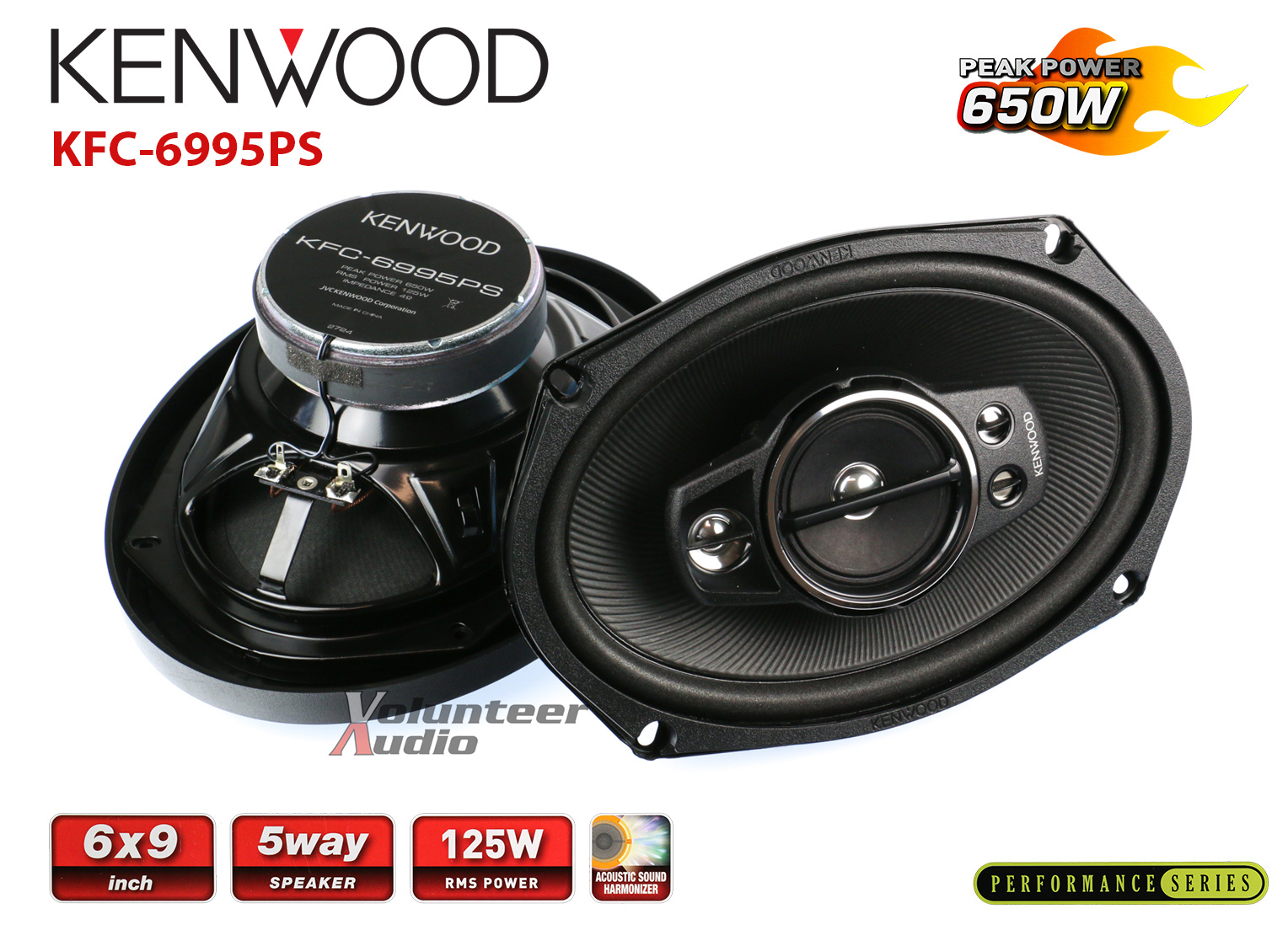 "Kenwood 6X9/"" 5-Way Speaker 650W"