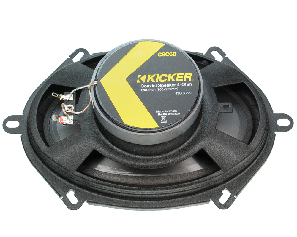 kicker csc68 6 x8 speakers with wiring harness fits ford. Black Bedroom Furniture Sets. Home Design Ideas