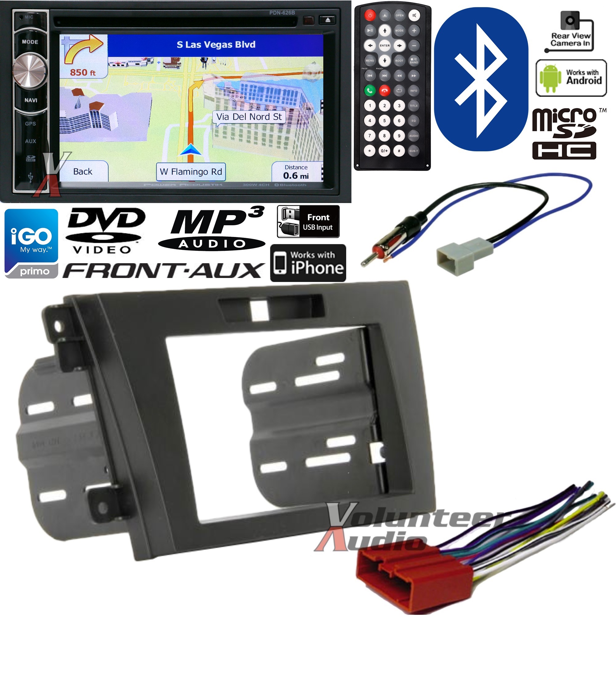 Alpha Nav Single Din Wiring Harness Free Download Power Acoustik Double Dvd Navigation Bluetooth Radio Install Kit At