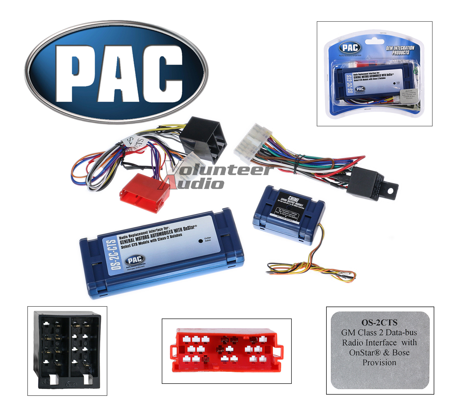 Pac Wiring Harness Wire Data Schema 350z Bose Diagram Non Os 2c Cts Onstar Radio Replacement Interface Rh Cafr Ebay Ca Adapter