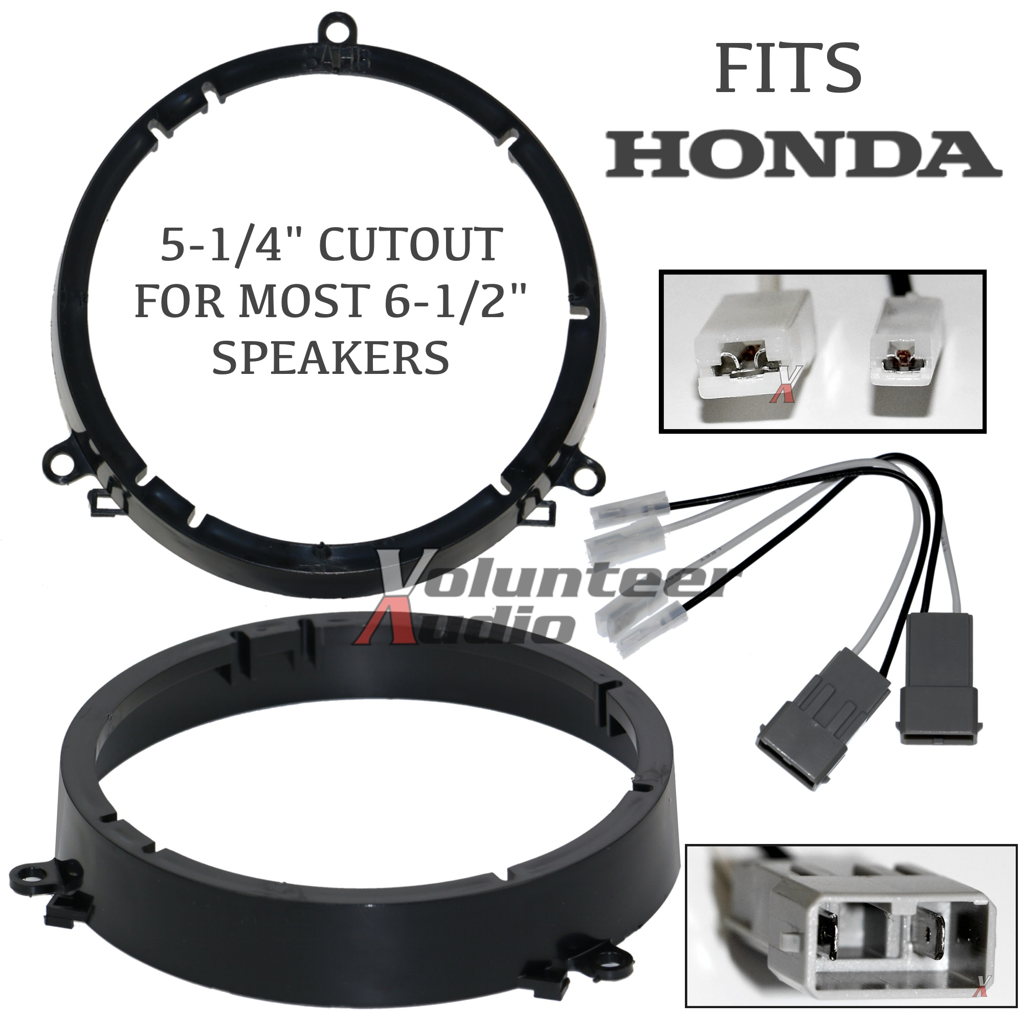 sah6 shha02b sah6 2001 2005 honda civic speaker adapter front location with honda civic speaker wire harness at bayanpartner.co