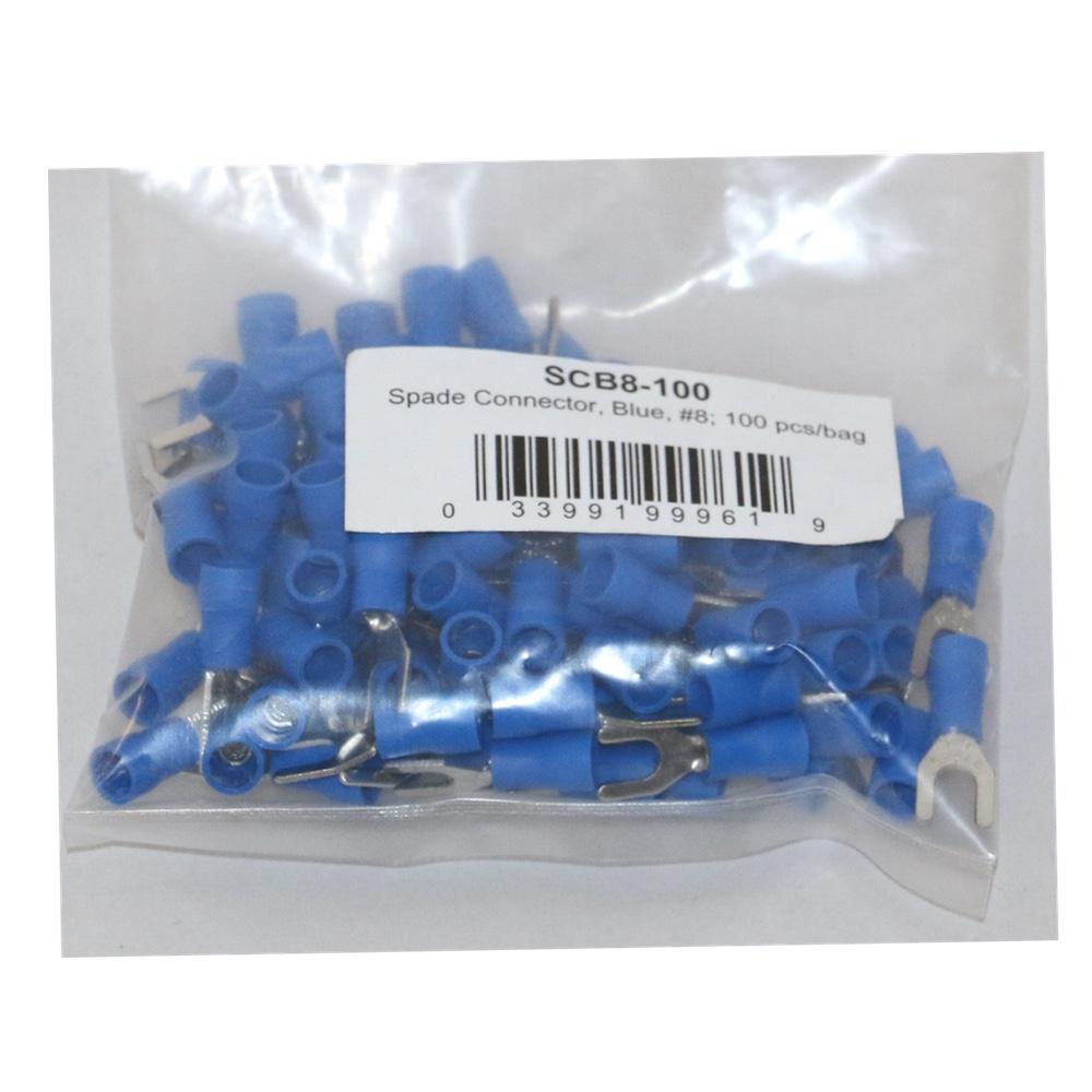 "Scosche Nylon Male Spade Quick Disconnect Yellow 16-14 Gauge 0.250/"" 100 Pcs//bag"