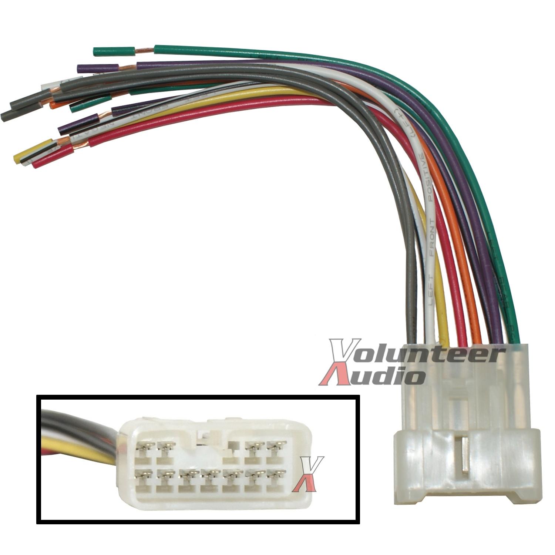 Suzuki Car Stereo Cd Player Wiring Harness Wire Aftermarket Radio Install Plug