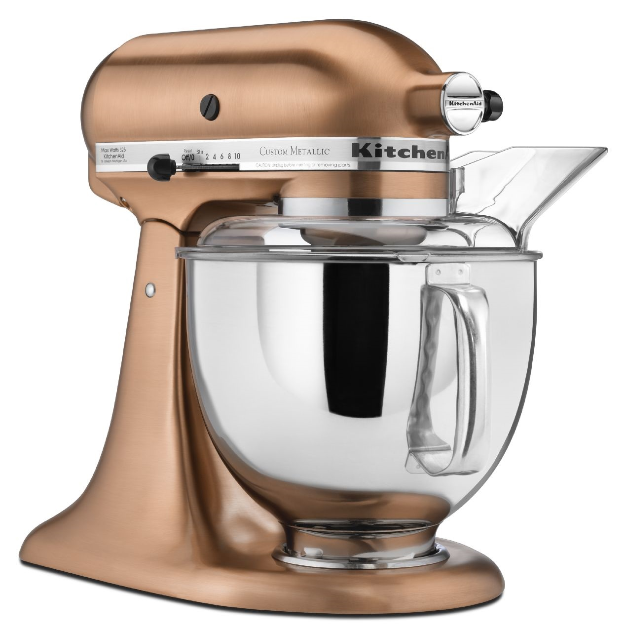 KitchenAid-Custom-Metallic-Series-5-Quart-Tilt-Head-Stand-Mixer-KSM152PS thumbnail 7
