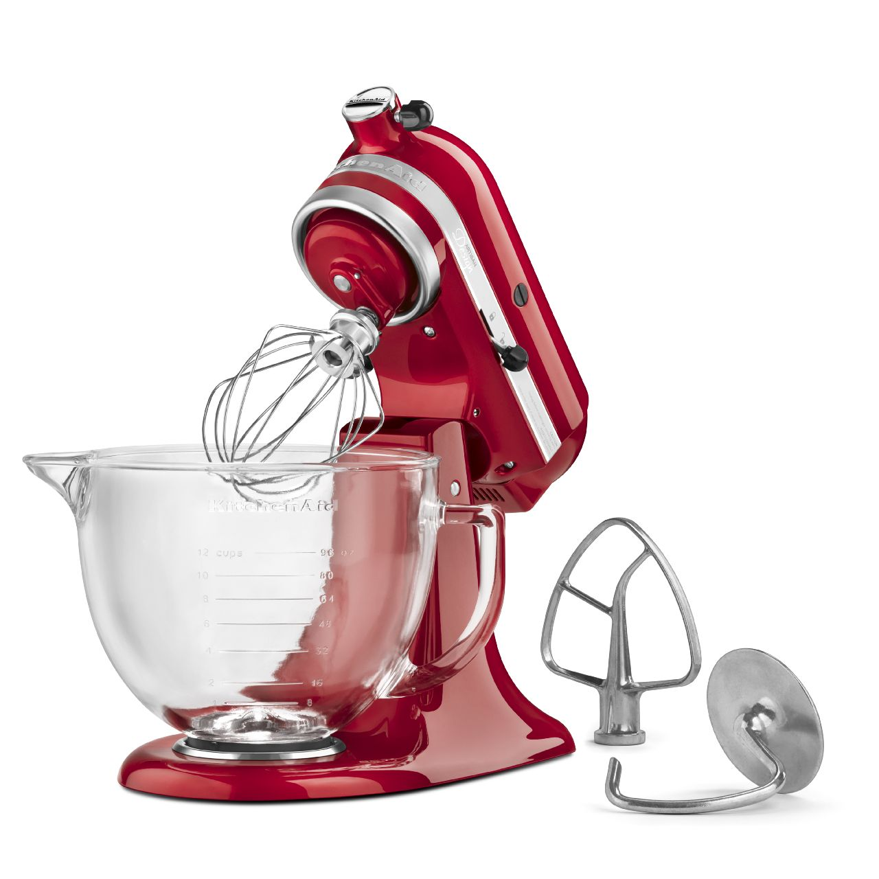 KitchenAid 5 Quart Artisan Glass Bowl Stand Mixer KSM155GBTF ...