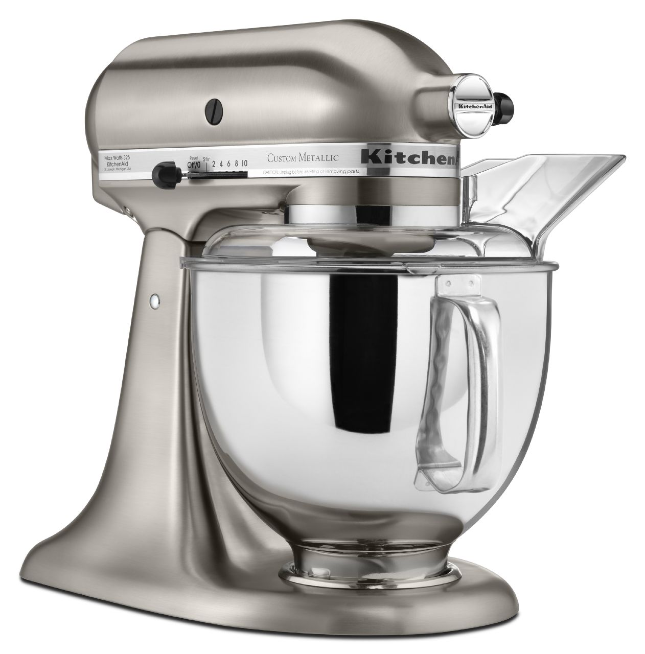 KitchenAid-Custom-Metallic-Series-5-Quart-Tilt-Head-Stand-Mixer-KSM152PS thumbnail 3