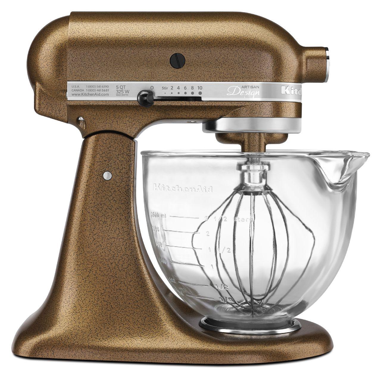 KitchenAid-Artisan-Design-Series-5-Quart-Tilt-Head-Stand-Mixer-with-Glass thumbnail 4