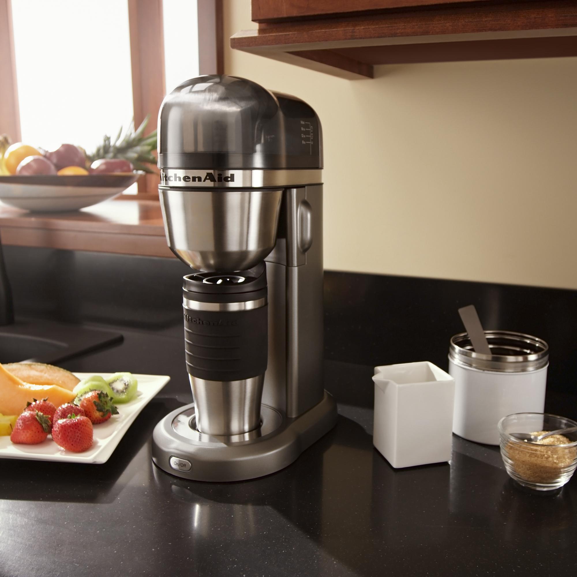 KitchenAid-Refurbished-Personal-Coffee-Maker-with-18-oz-Thermal-Mug-RKCM0402 thumbnail 6