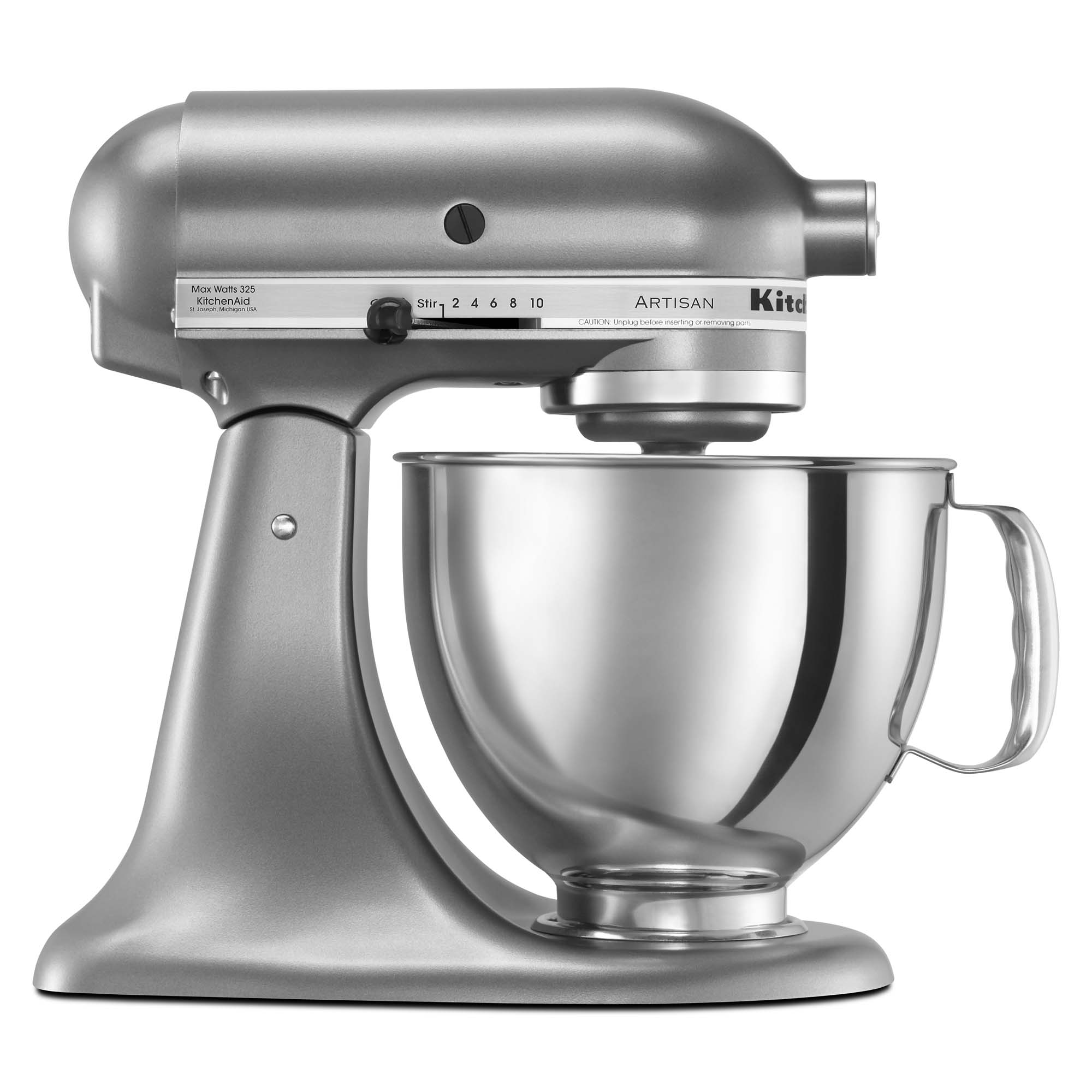 KitchenAid® Refurbished Artisan® Series 5 Quart Tilt-Head Stand Mixer, RRK150 Contour Silver
