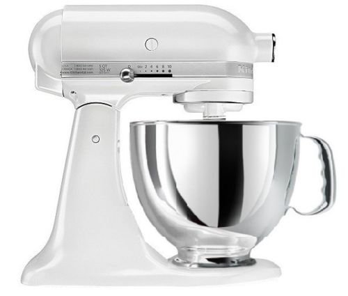 KitchenAid® Refurbished Artisan® Series 5 Quart Tilt-Head Stand Mixer, RRK150 Frosted Pearl White
