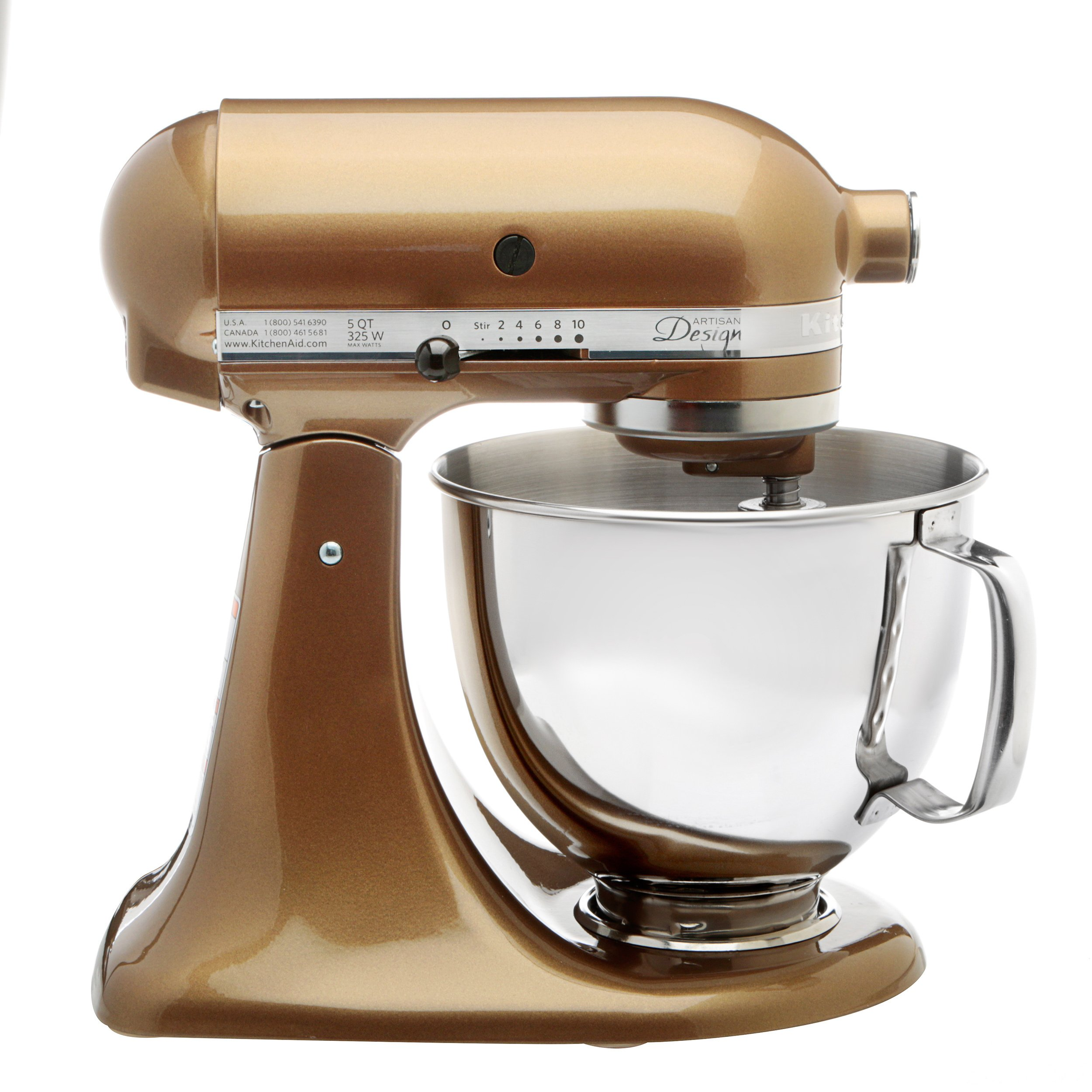 KitchenAid® Refurbished Artisan® Series 5 Quart Tilt-Head Stand Mixer, RRK150 Toffee