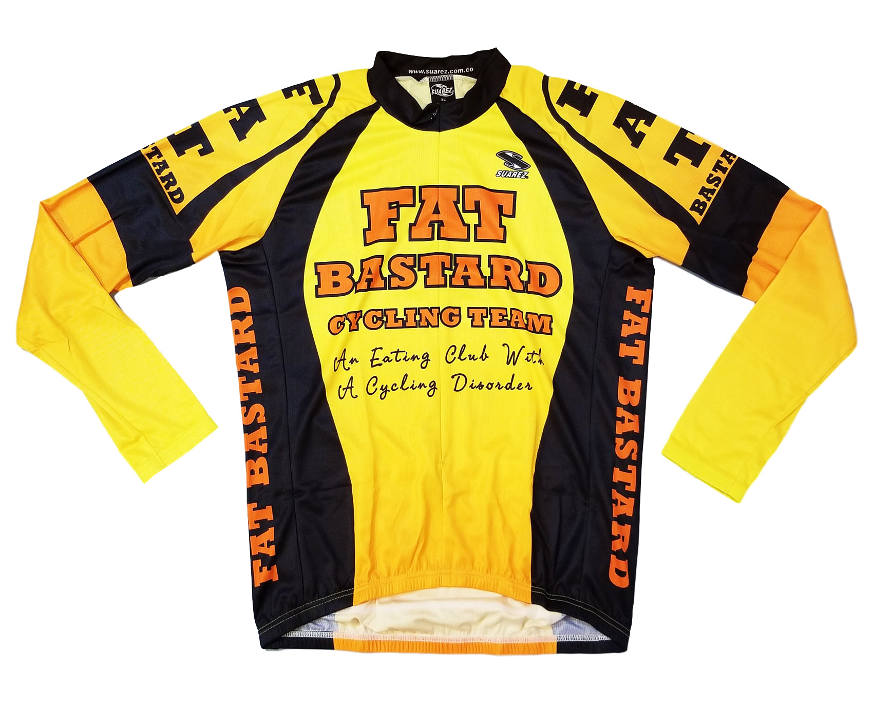 0317f7d35 SALE  29.95 Suarez Fat Bastard Cycling Jersey Mens LONG SLEEVE Free Shipping