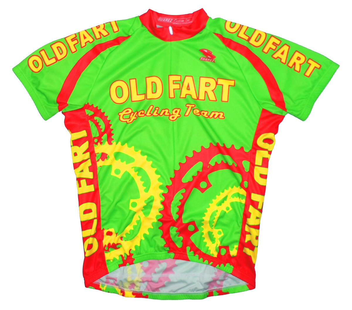 Old Fart Cycling Team Men S Jersey Bright Lime Green Short