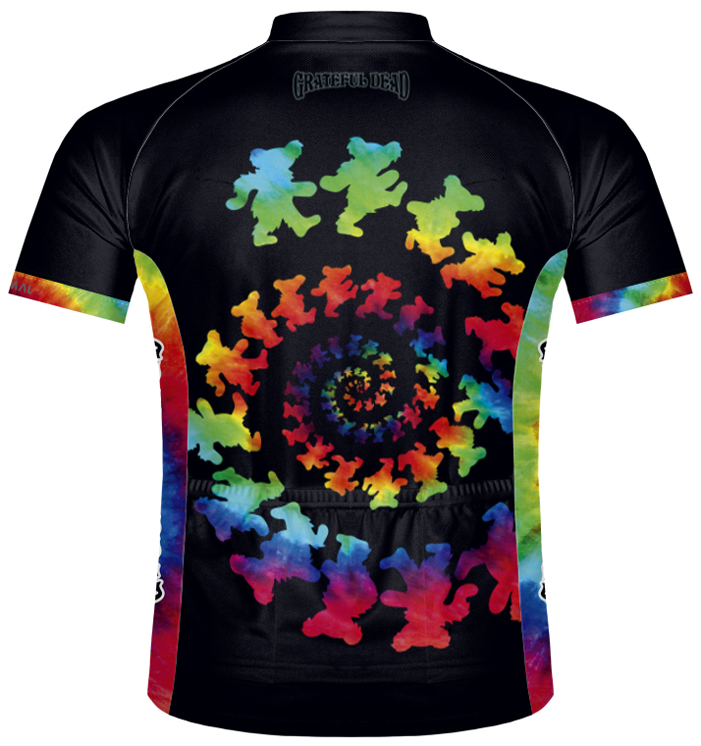 abcac8523 Primal Wear Grateful Dead Dancing Bears Tie Dye Cycling Jersey Mens with  socks. Thumb One. Thumb Two