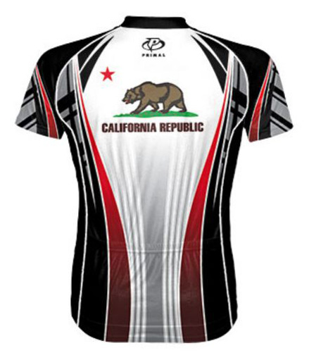 Primal Wear California Republic Flag Cycling Jersey Men S Short