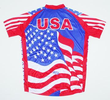 U.S. Flag Cycling Jersey Men s Short Sleeve by Suarez USA United ... dcb6f87c5