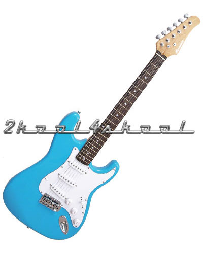 sky blue electric guitar set cable baby light ebay. Black Bedroom Furniture Sets. Home Design Ideas