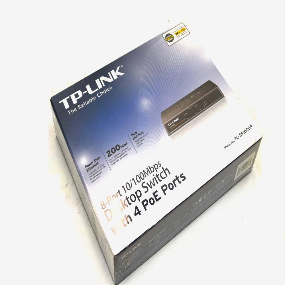 New Tp Link Tl Sf1008p 10 100mbps 8 Port Desktop Switch W 4 Poe Sf1008d 8port Ports Manufacturer