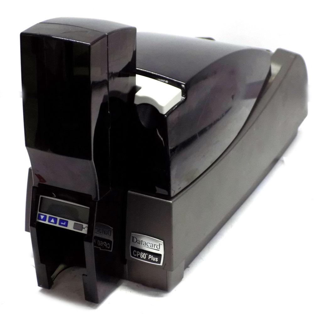 datacard cp60 plus cp60c2iath2net plastic id card printer w 3249 card count - Plastic Id Card Printer