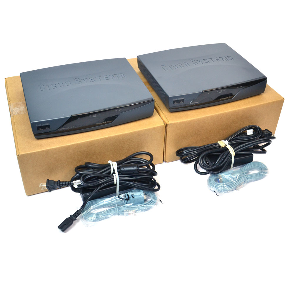 Details about (Lot of 2) Cisco CISCO877-SEC-K9 V05 Integrated Services  Router Security Bundle