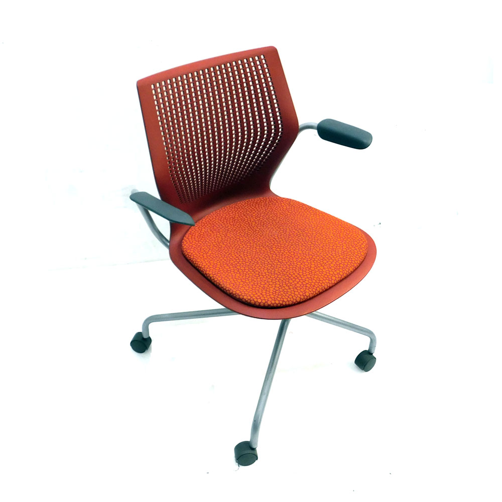Astonishing Details About Knoll 2Hasxhc Multi Generation Hybrid Base Red Office Chair Fixed Arms W Casters Ocoug Best Dining Table And Chair Ideas Images Ocougorg