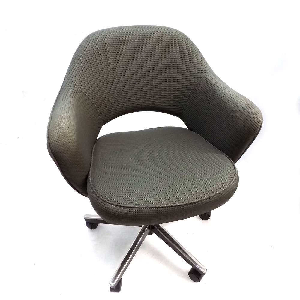 Excellent Details About Knoll 71At5Gh Saarinen Executive Grey Fabric Swivel Arm Chair W Casters Unemploymentrelief Wooden Chair Designs For Living Room Unemploymentrelieforg