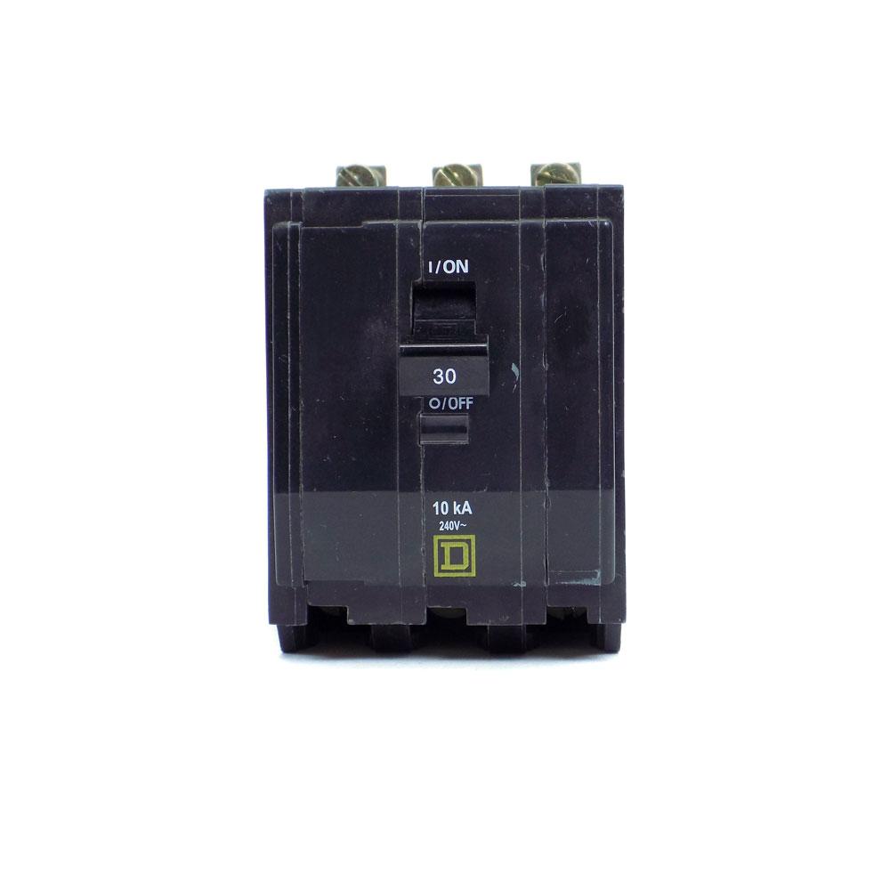Square D QOB330 Bolt On Circuit Breaker 30A 3P 240V 10kA Type QOB 30 Amp 3 Pole
