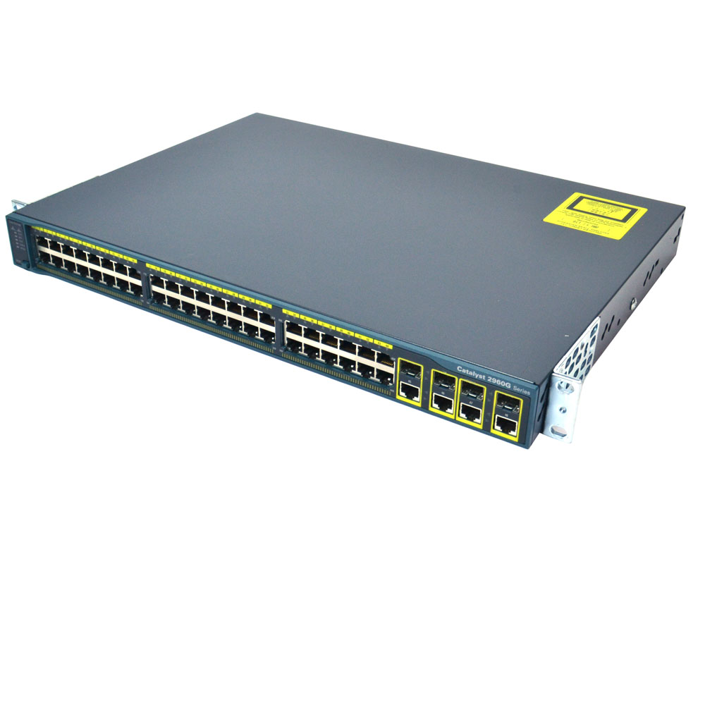 Cisco WS-C2960G-48TC-L 48 Port 10//100//1000 Gigabit Switch 4 SFP Uplinks GE KMJ