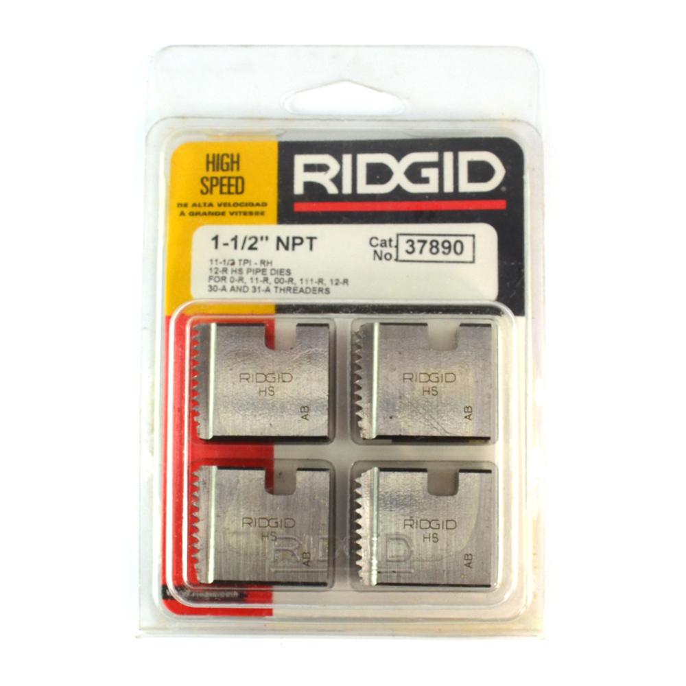 """OO-R set of Ridgid 1//8/"""" Pipe Dies NPT 12-R 111-R 11-R rigid head lot O-R 1"""