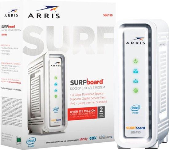 Details about ARRIS SURFboard SB6190 DOCSIS 3 0 Cable Modem - Retail  Packaging - White