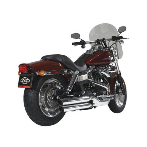 Exterior: S&S Slash-Cut Slip-On Mufflers Chrome Harley-Davidson