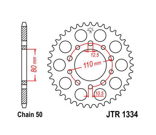 Jt Steel Rear Sprocket 530 44t Honda Cb900cbr 600vf500vf1000