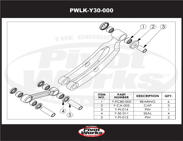 Pivot Works Linkage Bearing Kit Yamaha YFM350R Raptor 350