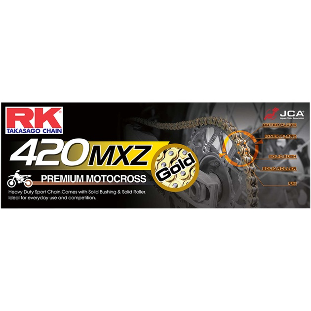 RK Racing Chain 420MXZ-94 94-Links MX Chain with Connecting Link